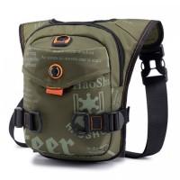 Printed Zipper Closure Nylon Buckle Closure Traveller Mini Backpack - Green