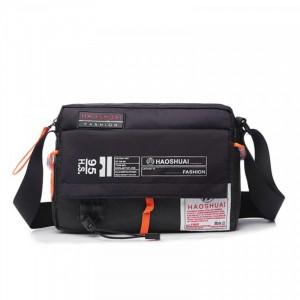 Zipper Closure Adjustable Strap Mini Traveller Bags - Black