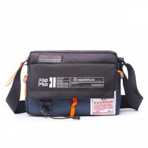 Zipper Closure Adjustable Strap Mini Traveller Bags - Blue