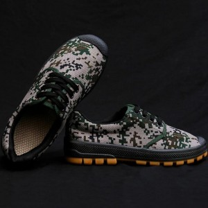 Camouflage Printed Lace Closure Unisex Casual Wear Sneakers - Gray