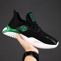 Rubber Soft Base Running Casual Breathable Sneakers - Green