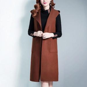 Button Closure Suit Winter Style Coat - light Brown
