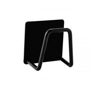 Multi functional Stainless Steel Sponges Holder  Self Adhesive Sponges Drying Rack - Black