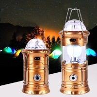 Rechargeable Camping And Party Decoration Flash Light Lantern - Golden
