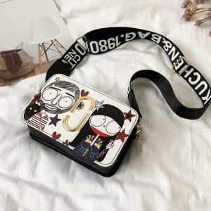 Zipper Closure Digital Prints Messenger Bags