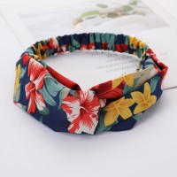 Girls Cross Wide Elastic Fashion Floral Headband - Multi Color