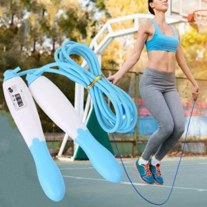 Mechanical Counting Movement Skipping Rope - Sky Blue