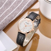 Fashion Ladies Simple Quartz Watch - Black