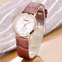 Fashion Ladies Simple Quartz Watch - Brown