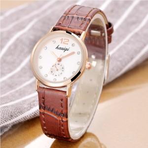 Fashion Ladies Simple Quartz Watch - Brown