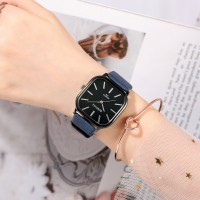 Ladies Casual Wide Band Quartz Watch - Blue
