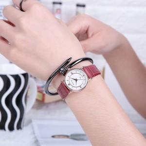 Women Casual Quartz Watch - Wine Red