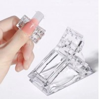 1 Piece Nail Crystal Anchor Clip - Transparent