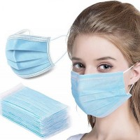 50 Pcs Disposable Breathable Face Mask - Blue