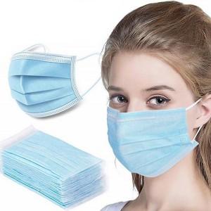 50 Pcs Disposable Breathable Face Mask - Blue