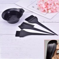 4 Pcs Hair Coloring Dyeing Brush Kit - Black