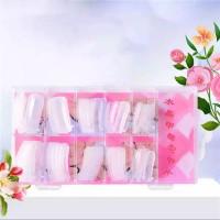 1 Box Of 100 Pcs Crystal Extension Nails - Transparent