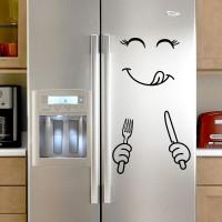 Cartoon Smiling Face Bedroom Wardrobe Refrigerator Home Decor Sticker 02