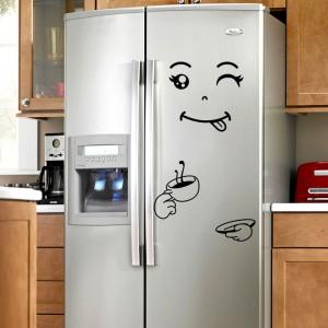 Cartoon Smiling Face Bedroom Wardrobe Refrigerator Home Decor Sticker 03