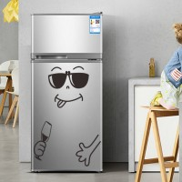 Cartoon Smiling Face Bedroom Wardrobe Refrigerator Home Decor Sticker 04