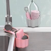 Kitchen Sink Drain Rack Sponge Soap Debris Rack Plastic Hanging Storage Basket - Pink