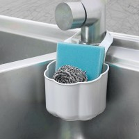 Kitchen Sink Drain Rack Sponge Soap Debris Rack Plastic Hanging Storage Basket - Gray