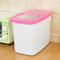 High Quality Plastic Ware Kitchen Rice Storage Box - Pink