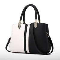 Double Handle Formal Women Fashion Elegant Handbags - Black