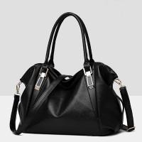 Synthetic Leather Elegant Luxury Fine Quality Women Handbags - Black