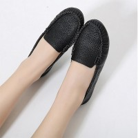 Hollow Breathable Flat Wear Sobar Flat Shoes - Black