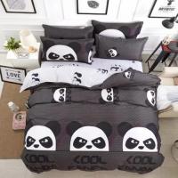 Single Size, Duvet Cover, Bed Sheet  Set of 4 Pieces, Cool panda  Design