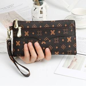 Designers Printed Zipper Closure Fancy Designers Messenger Bags - Brown