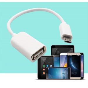 Mirco Usb OTG Data Cable For Phone - White