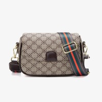 Printed Magnetic Closure Fancy Designers Messenger Bags - Khaki