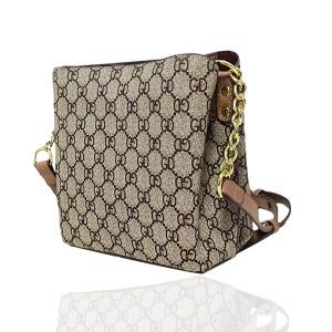 Designers Floral Printed Zipper Closure Handbags - Khaki