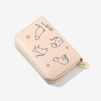 Zipper Closure Sober Handheld Women Fashion Wallets - Pink