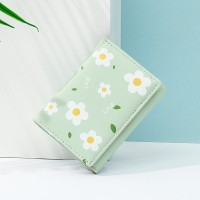 Floral Printed Magnetic Closure Women Fashion Wallets - Green