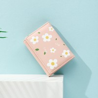 Floral Printed Magnetic Closure Women Fashion Wallets - Pink