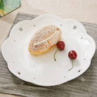 Hollow Wavy Design Decorative Fruits Dining Plate - 8 Inch
