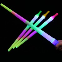 New Luminous Four Section Telescopic Stick Flashing Kids Toy - Multicolor