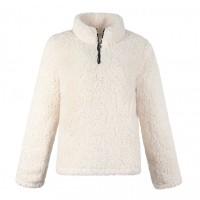 Zippper Closure Furry Women Fashion Jacket - White