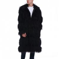 Furry Style Men Long Outwear Coats - Black