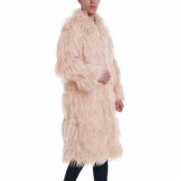 Furry Style Men Long Outwear Coats - Pink