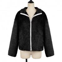 Zipper Closure Full Sleeves Casual Jacket - Black
