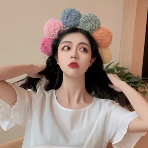 Women Cute Colorful Soft Floral Headband For Face Wash Makeup - Multicolor