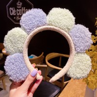 Women Cute Colorful Soft Floral Headband For Face Wash Makeup - Light Green