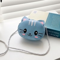 Cute Animal Decoration Kids Shoulder Bag - Blue
