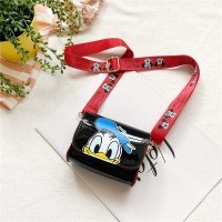 Disney Mickey Mouse Donald Duck Cute Cartoon Kids Shoulder Bag - Black Blue