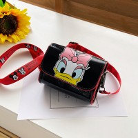 Disney Mickey Mouse Donald Duck Cute Cartoon Kids Shoulder Bag - Black Pink