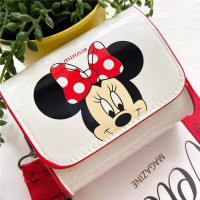 Disney Mickey Mouse Donald Duck Cute Cartoon Kids Shoulder Bag - White Red